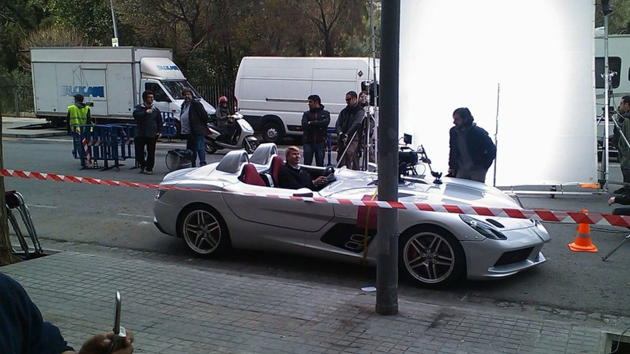 Mercedes SLR Stirling Moss Edition and Hakkinen Shooting Commercial in Barcelona