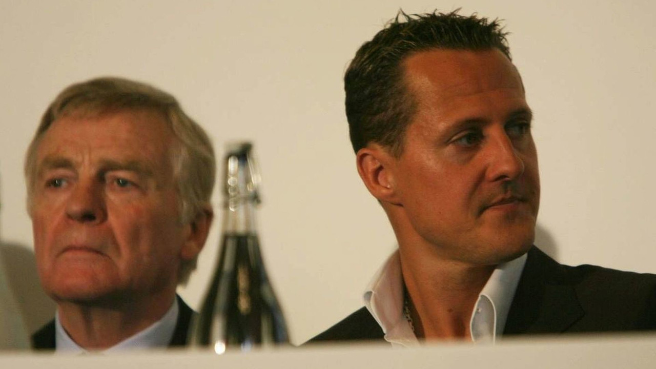 Max Mosley and Michael Schumacher, UN Rally for Safer Roads 23.04.2007