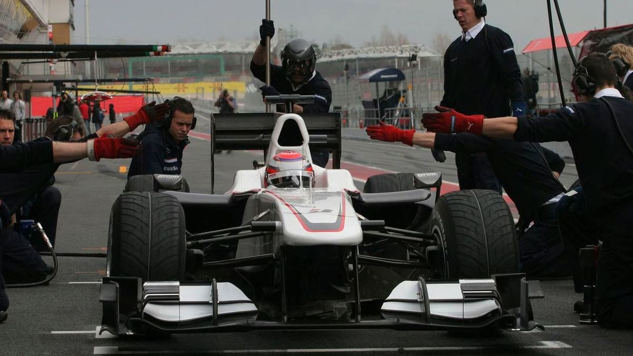 Kamui Kobayashi (JAP), BMW Sauber F1 Team - Formula 1 Testing, 27.02.2010, Barcelona, Spain