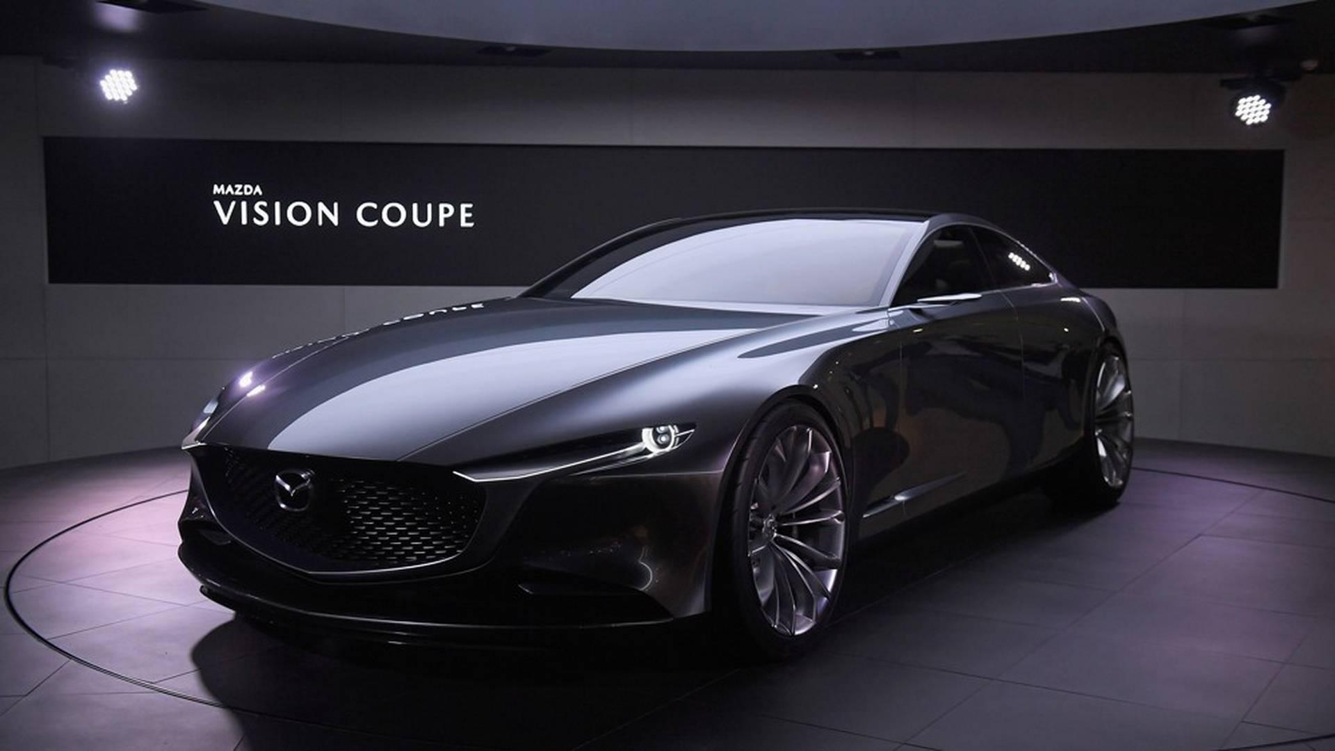 mazda vision coupe concept is stunning four door elegance. Black Bedroom Furniture Sets. Home Design Ideas