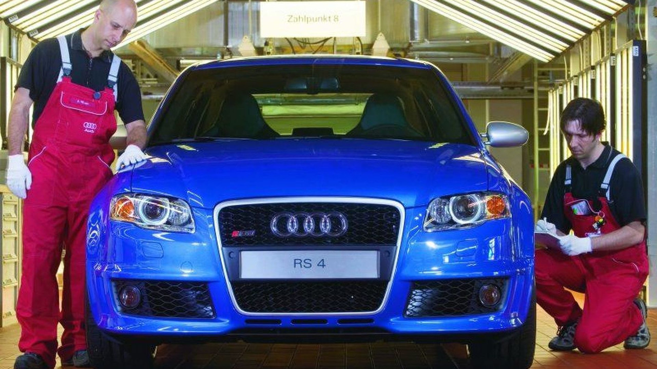 Audi RS4 production