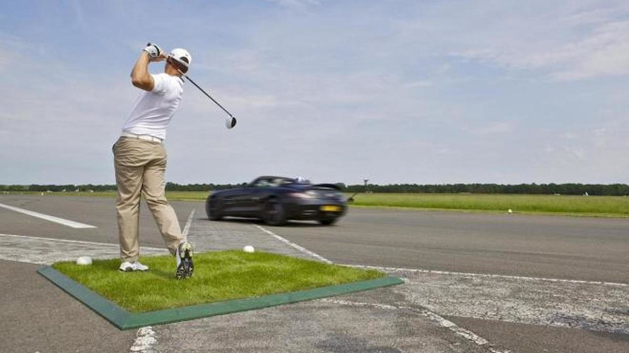 Mercedes SLS AMG Roadster world record golf ball catch videos released