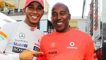 Lewis Hamilton with his father Anthony Hamilton