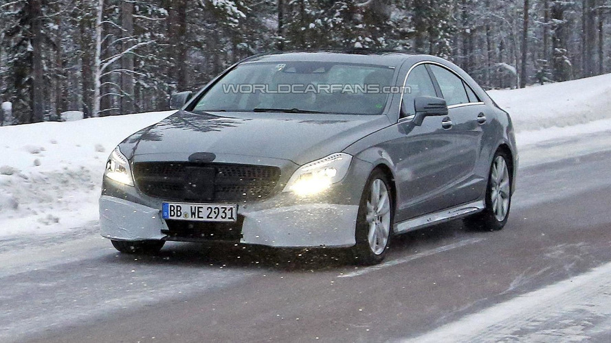 Facelifted Mercedes-Benz CLS spied once again