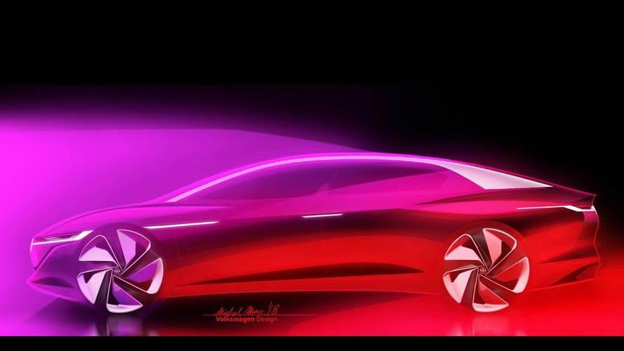 Volkswagen I.D. Vizzion'un teaser'ı geldi