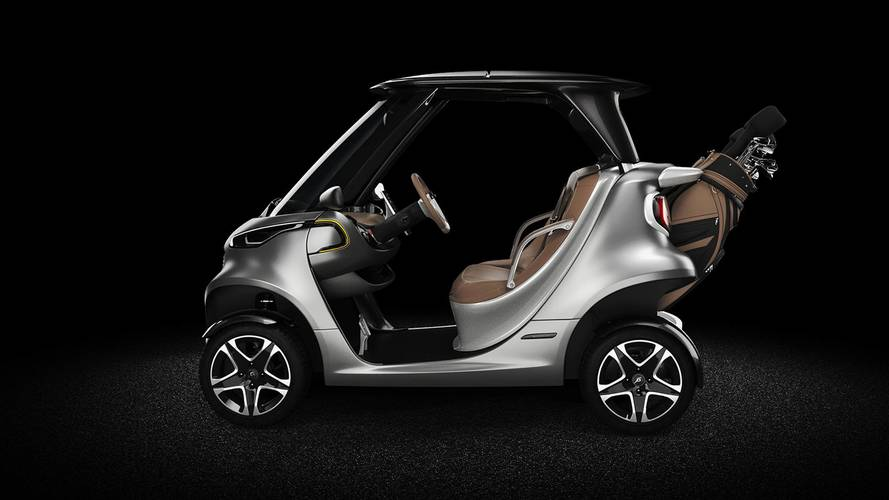 Hit the links in style with the mercedes garia golf cart for How much is the mercedes benz golf cart