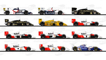Todos los coches de Ayrton Senna en F1