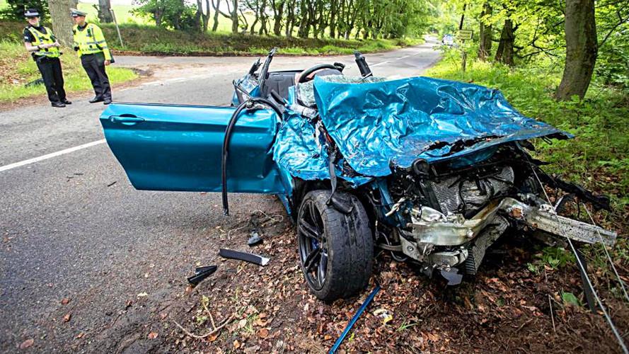 BMW M2 buluşma sonrasında pert oldu