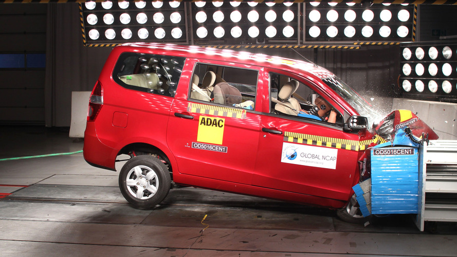 Chevrolet Enjoy scores 'fatal' zero stars Global NCAP crash test