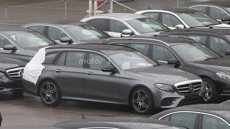Mercedes E Class Estate spied virtually undisguised