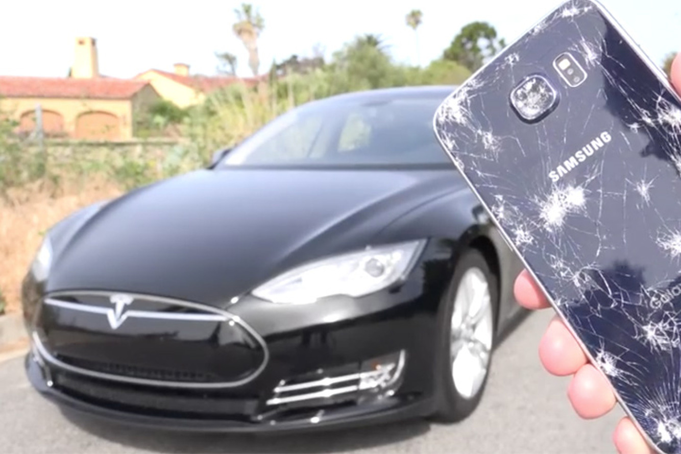 Samsung Galaxy S6 Takes On a Tesla —And the Results Are Impressive