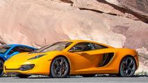 McLaren 12C pare brise fendu