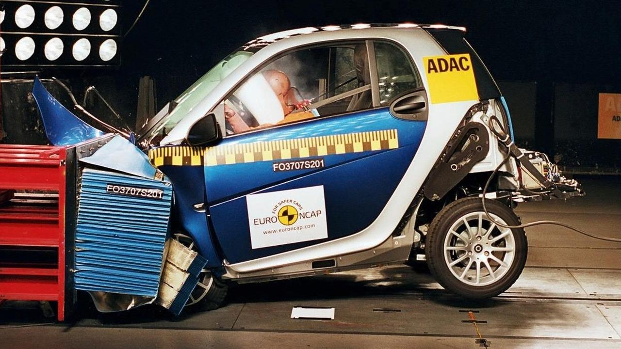 smart fortwo Euro NCAP crash test