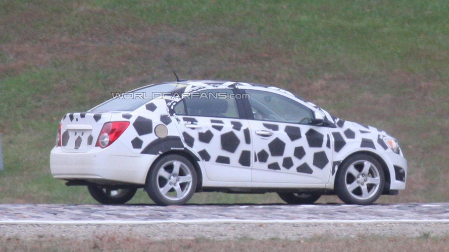 2012 Chevrolet Aveo sedan - spied almost undisguised