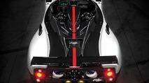 Pagani Zonda Cinque Roadster rear view