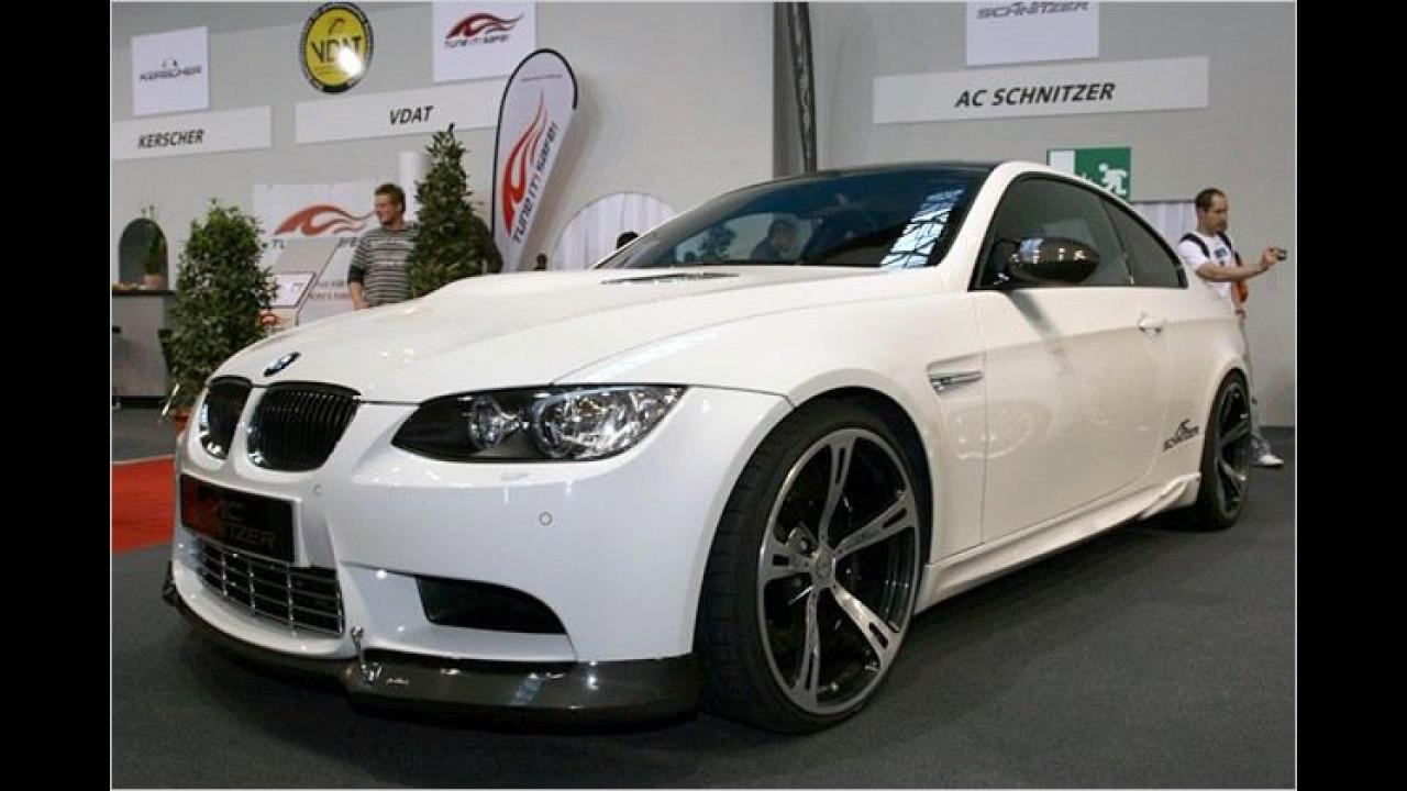 Die Serien-Version des BMW M3 leistet 420 PS, von AC Schnitzer bearbeitet bringt er es auf 475 Pferde
