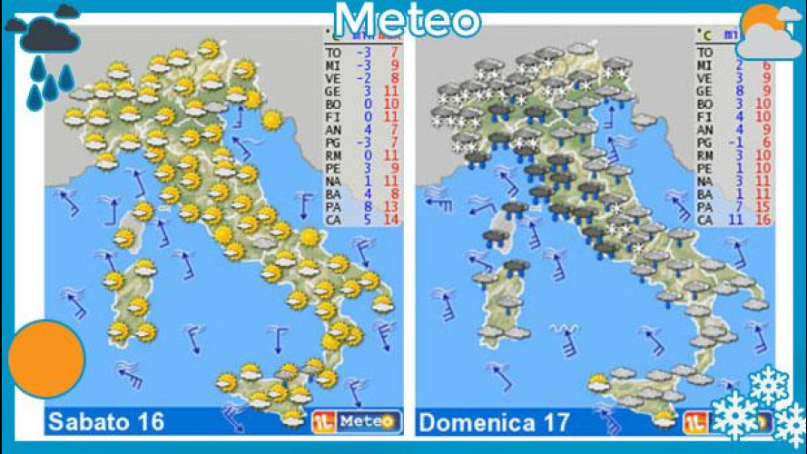 Meteo del fine settimana 16-17 marzo: prima sole, poi pioggia