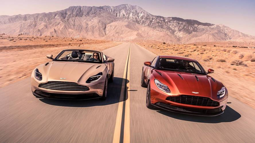 Aston Martin shows off new DB11 Volante convertible GT car