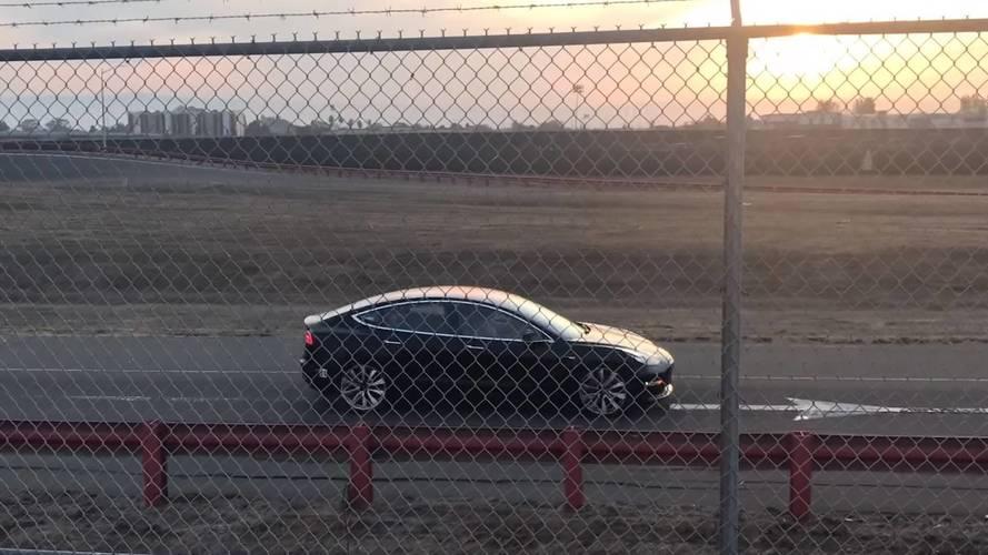 Performance Version Of Tesla Model 3 Caught On Camera