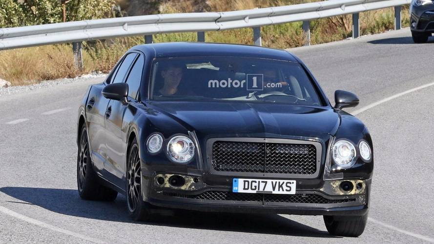 New Bentley Flying Spur spied wearing full camouflage