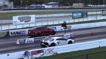Tesla Model X drag races Lamborghini Aventador SV