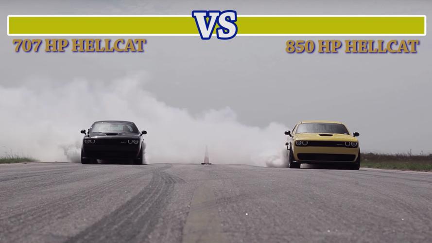 'Henessey' Hellcat, orijinal Hellcat ile kozlarını paylaşıyor!