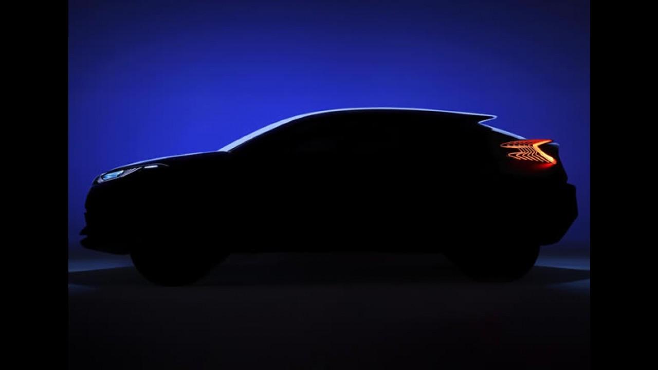 Toyota divulga teaser de inédito conceito de crossover compacto