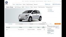 Volkswagen up! já está disponível em configurador no site da marca