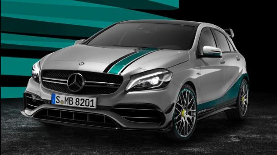 Mercedes AMG A45, tributo alla Formula 1 con la Champions Edition