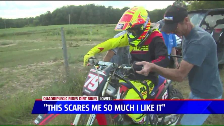 Quadriplegic Michigan Man Returns to Motocross Racing