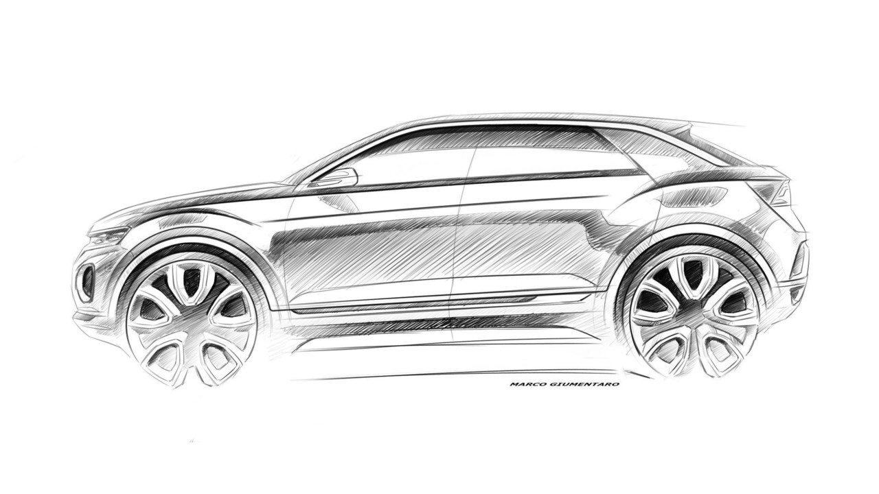 Volkswagen T-Roc design sketch