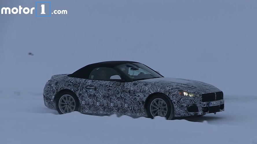 BMW Z5 Caught Testing Out Of Its Element On Icy Roads