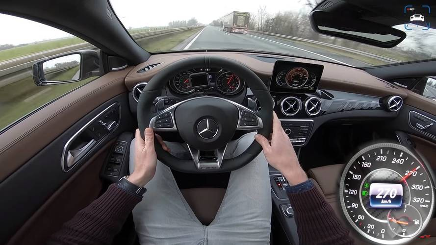 Watch The Mercedes-AMG CLA 45 Hit Its 168-MPH Top Speed