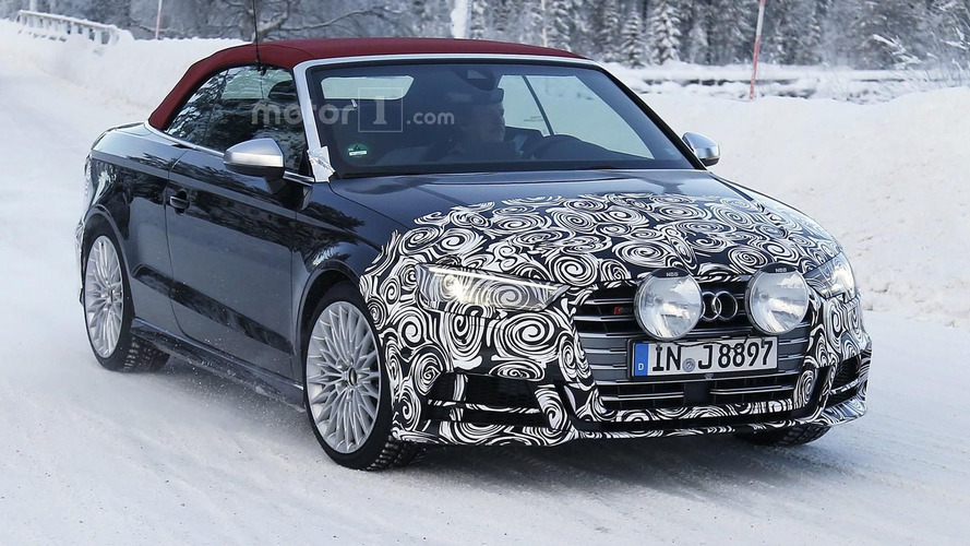 Audi S3 Cabrio facelift spied sporting a new grille