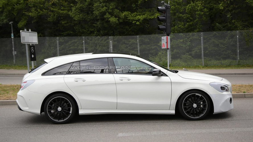 Facelifted Mercedes-Benz CLA Shooting Brake spied with very little disguise