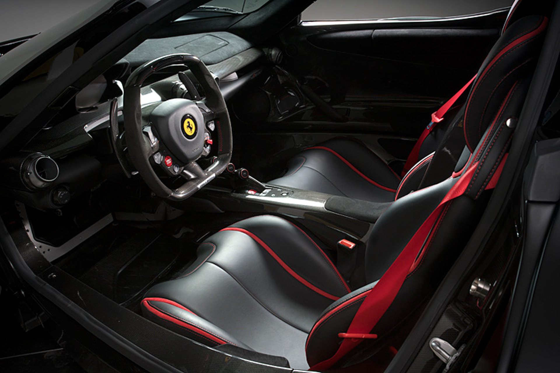 Sinister Ferrari LaFerrari Hits the Auction Block With Just 211 Miles