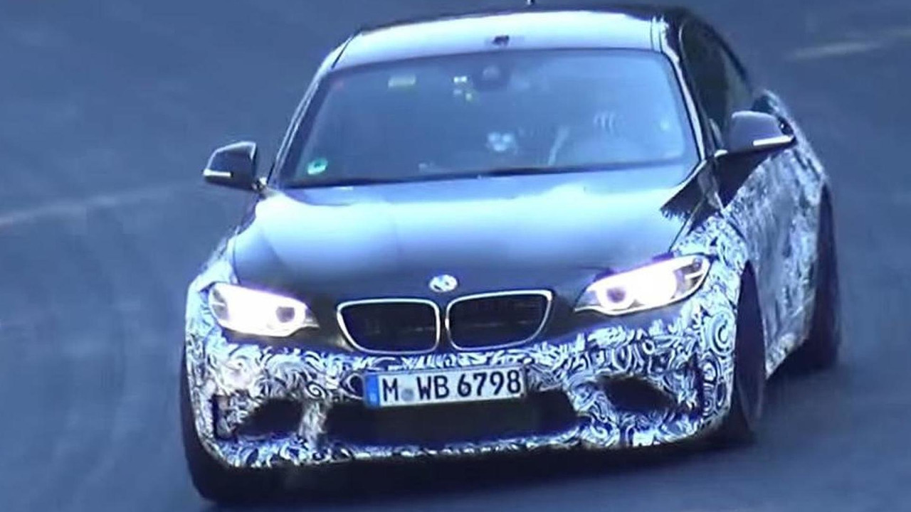 2016 BMW M2 screenshot from spy video