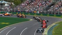 Lewis Hamilton, Mercedes-AMG F1 W09 EQ Power+ leads at the start of the race