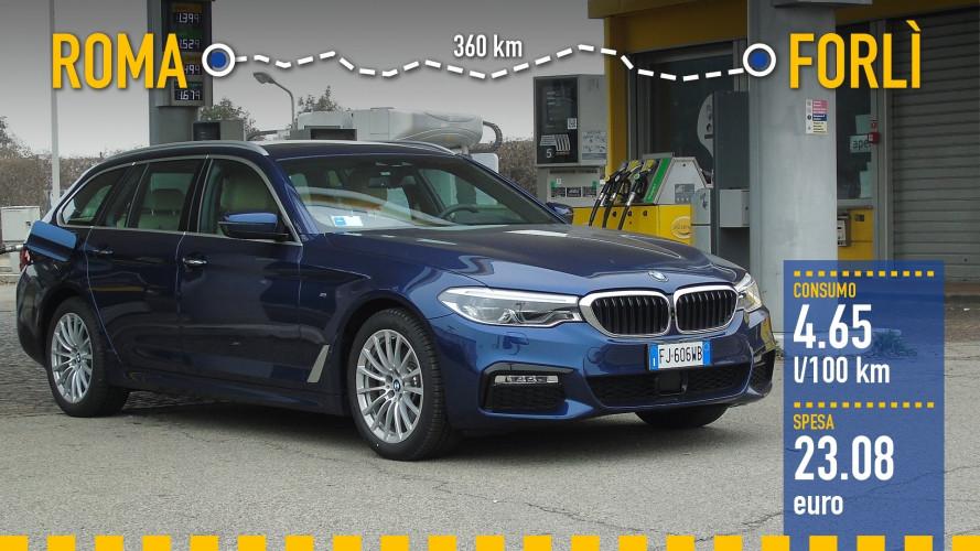 BMW 520d Touring, la prova dei consumi reali