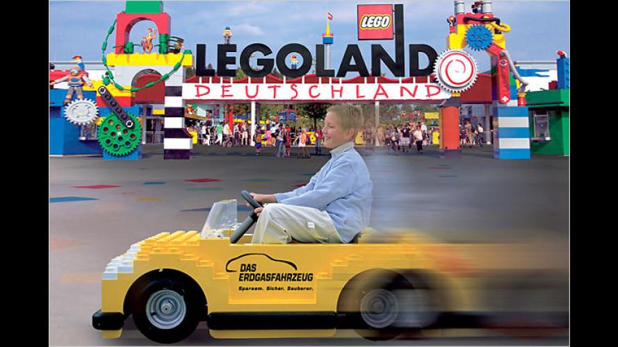 Erdgasfahrzeug-Familientag im Legoland Deutschland