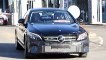 2018 Mercedes C-Class Coupe facelift spy photo