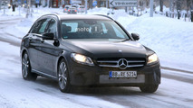 2018 Mercedes C-Class Estate facelift spy photos