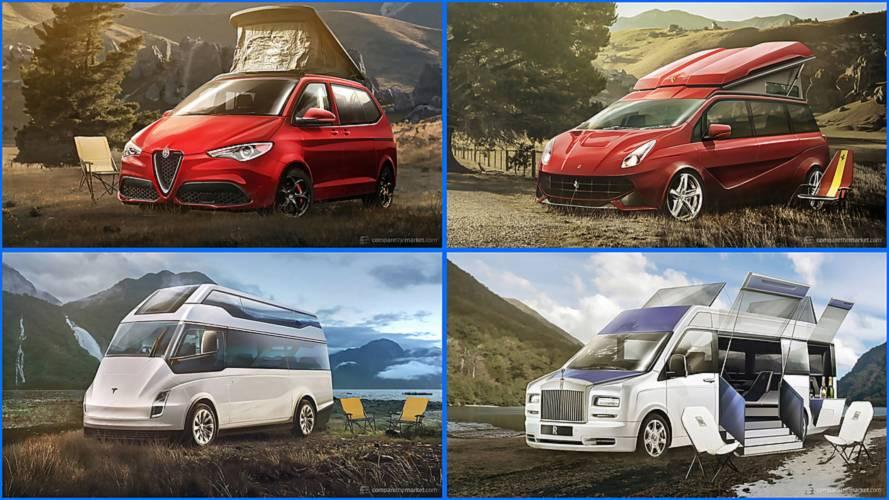 What If Luxury Carmakers Built Camper Vans? #vanlife