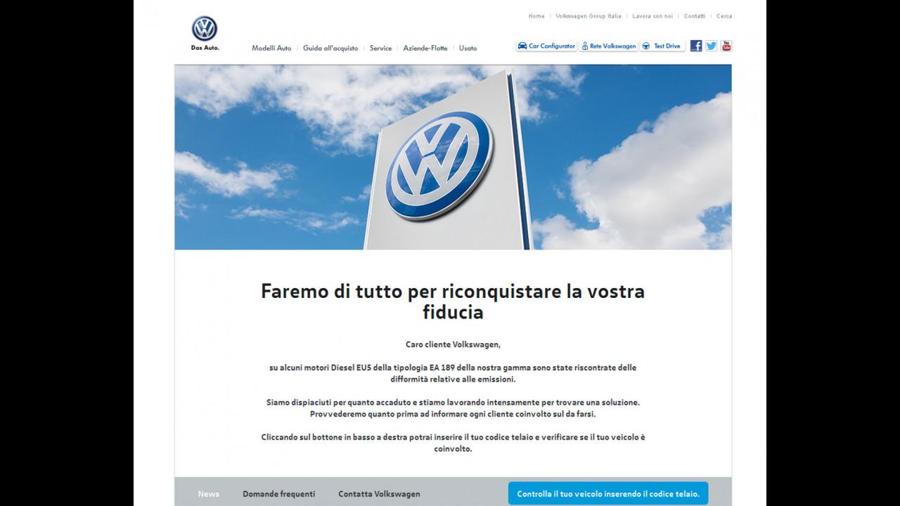 Il sito Volkswagen