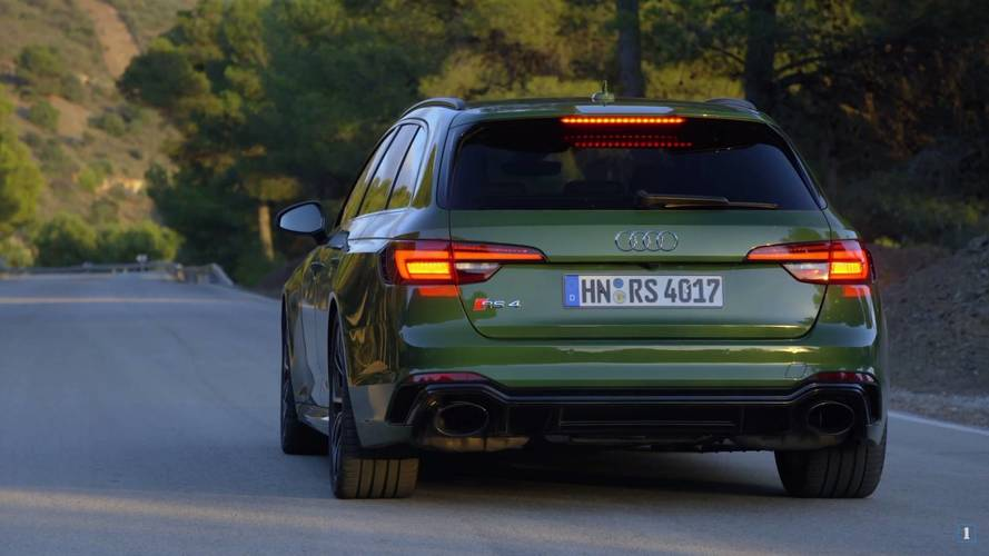 Audi RS4 Avant Sonoma Green Is Hulk-Approved In Promo Video