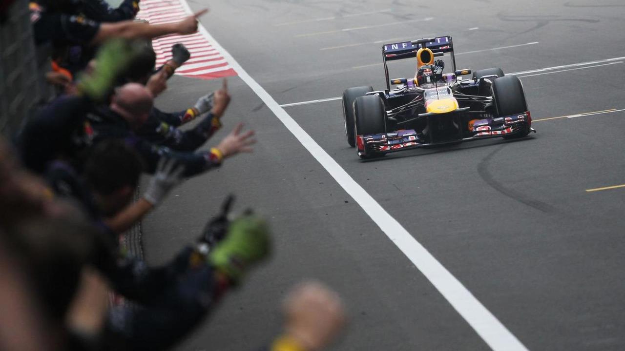 Sebastian Vettel end of race 27.10.2013 Indian Grand Prix
