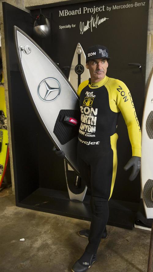 Mercedes-Benz develops surfboard for Garrett McNamara [video]