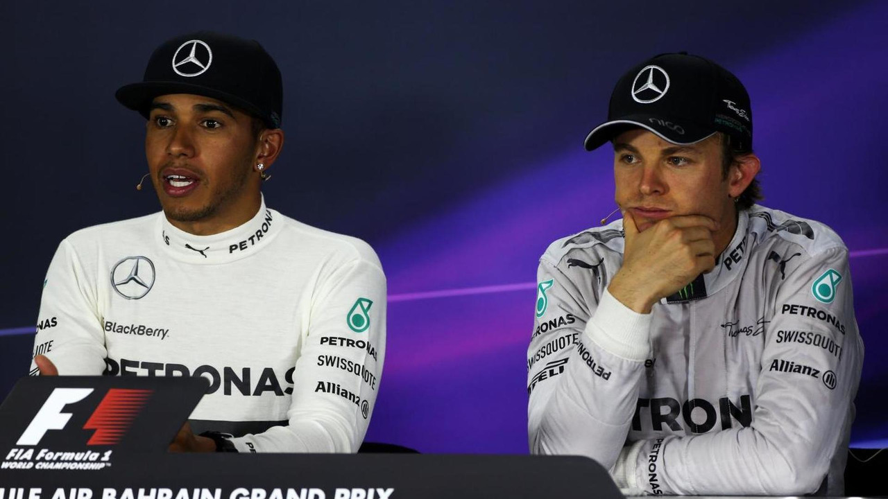 Race winner Lewis Hamilton (GBR) with team mate Nico Rosberg (GER) / XPB