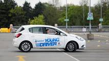 Young Driver lessons for 10-17 year olds take place in a dual control Vauxhall Corsa
