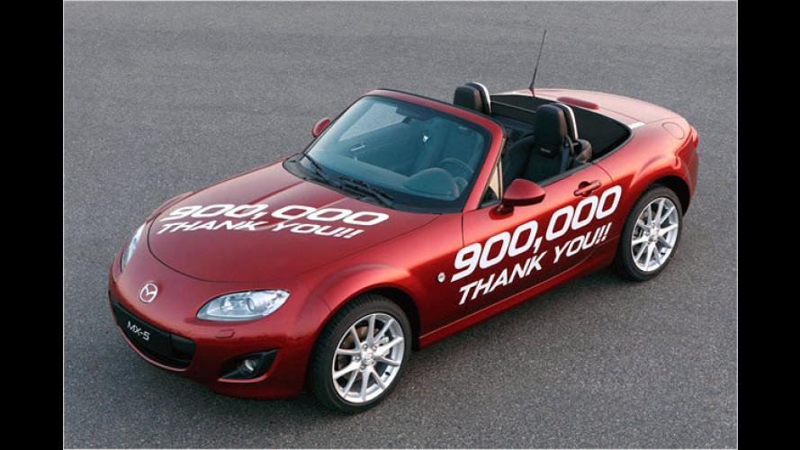 Weltrekord des Mazda MX-5: Bestverkaufter Sport-Zweisitzer